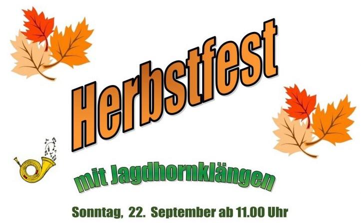 Herbstfest 22. September ab 11 Uhr